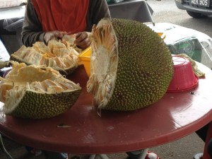 We ate all kinds of new fruits. Most delicious but we hated Durian - Asia's marmite!